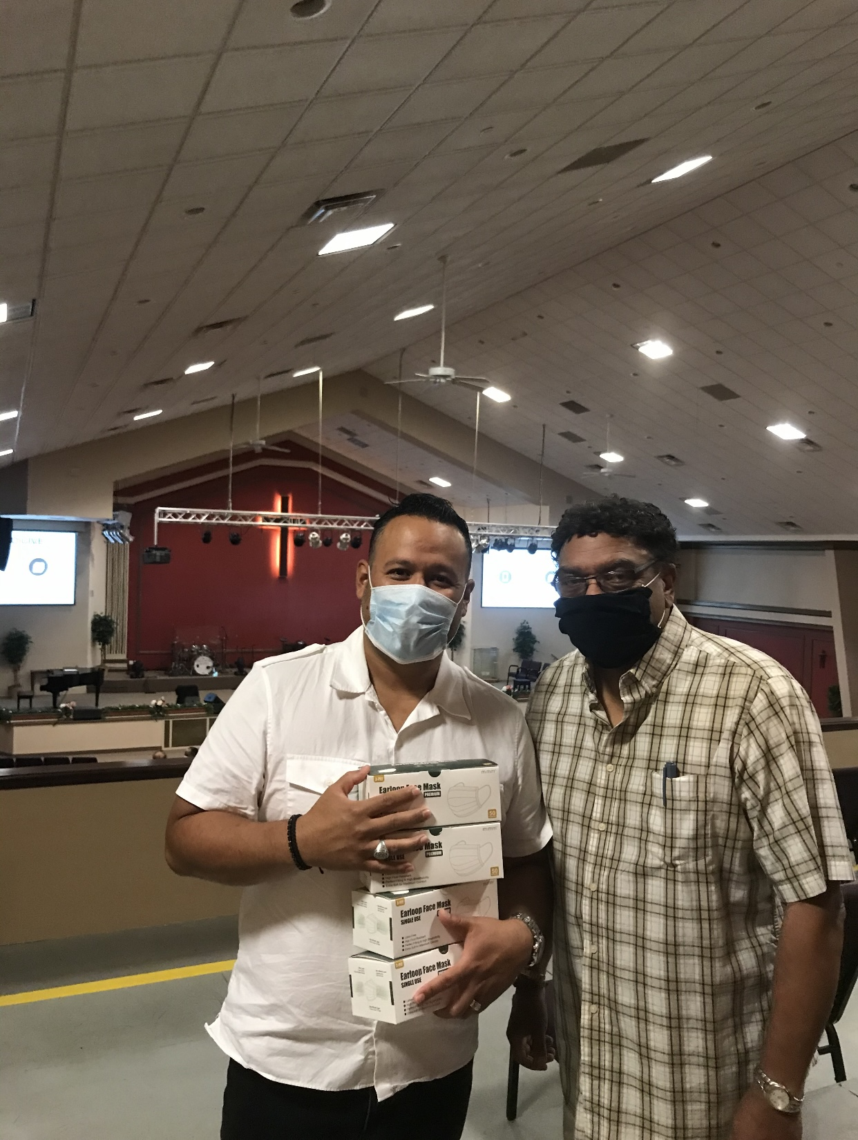 Pastor Jose Salgado, Masks For Amityville Community, Pastor Jose Salgado.